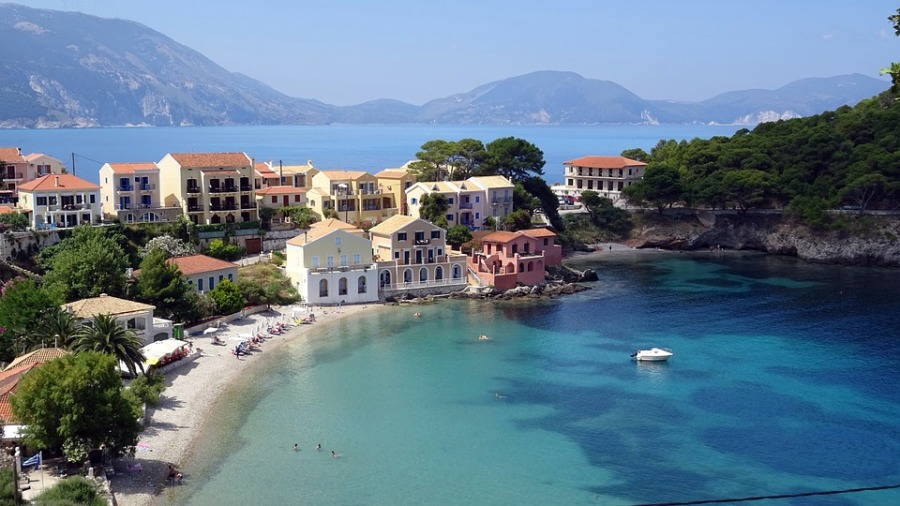 Turquoise Kefalonia Island Assos Cephalonia Greece
