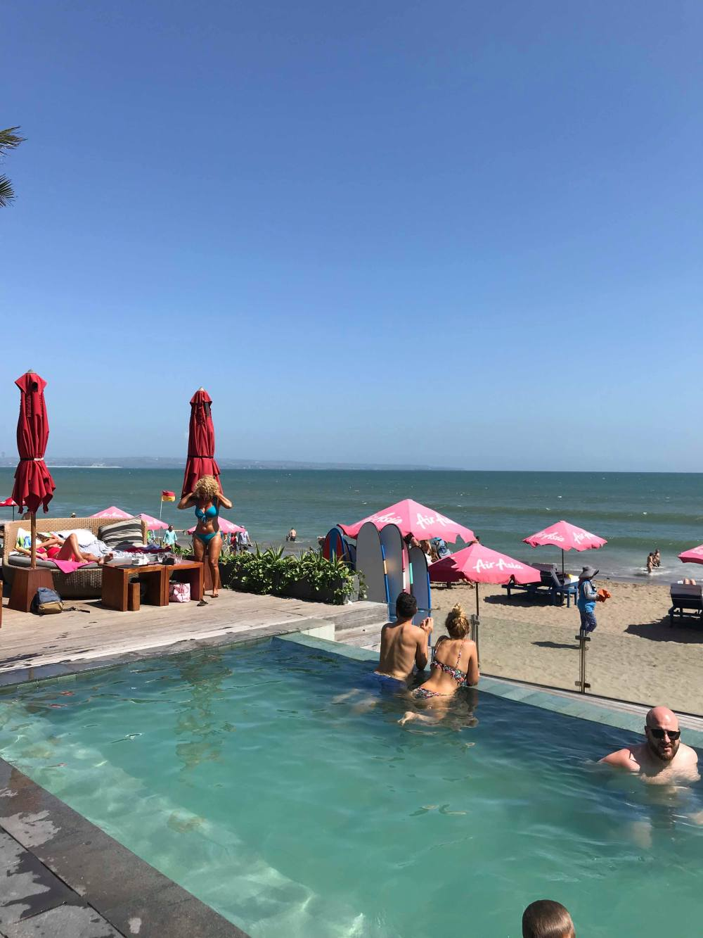 KU DE TA beach club view from pool