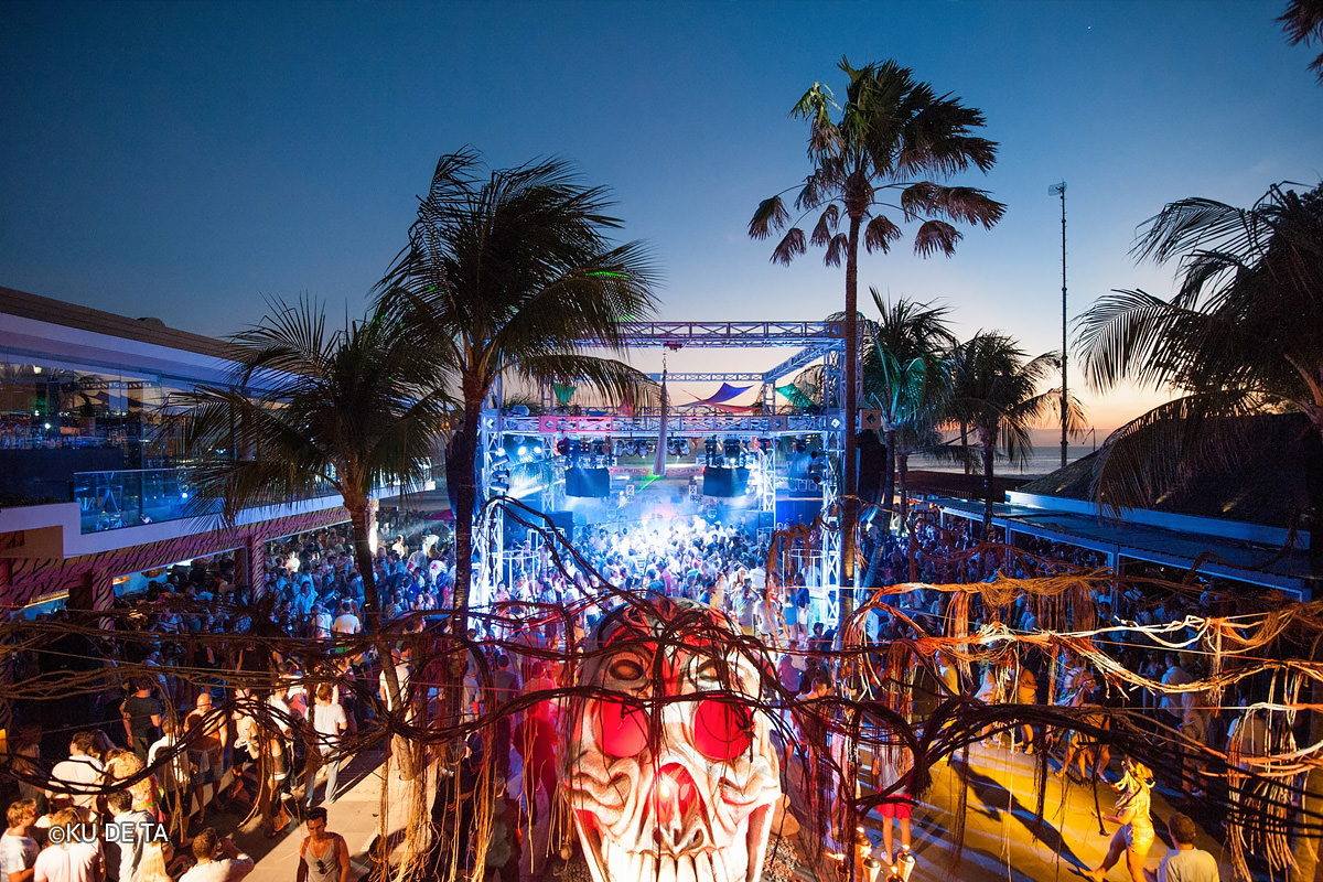 Nightlife at KU DE TA beach club in Seminyak, Bali